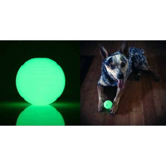 Chuckit Max Glow Ball , M , VILÁGÍTÓS , 2db