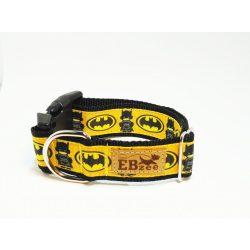 Batman mintás nyakörv (sárga)