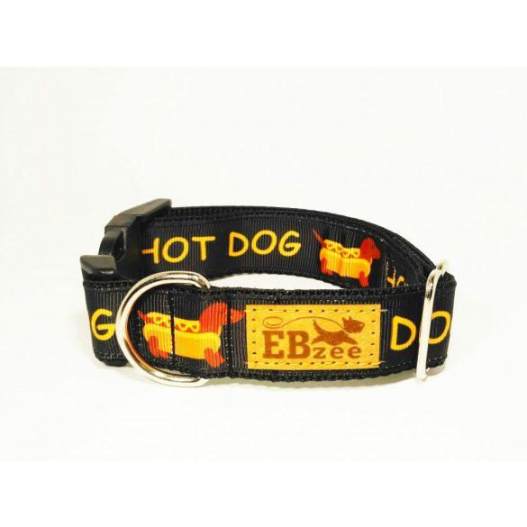 HOT-DOG mintás nyakörv ( fekete )